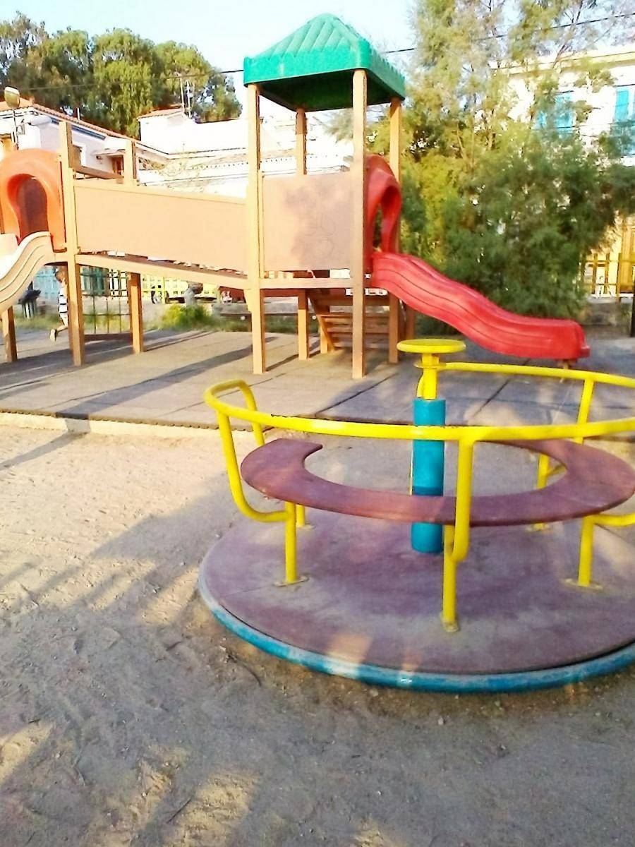 Children playground at the port - Argo Saronic islands turistic guide